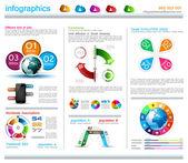 Šablona návrhu Infographic s konceptem cloud