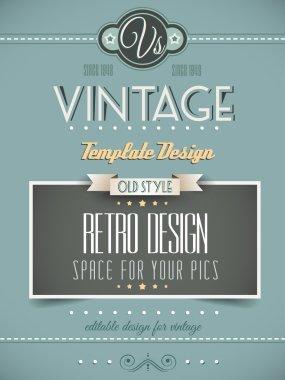 Vintage retro page template