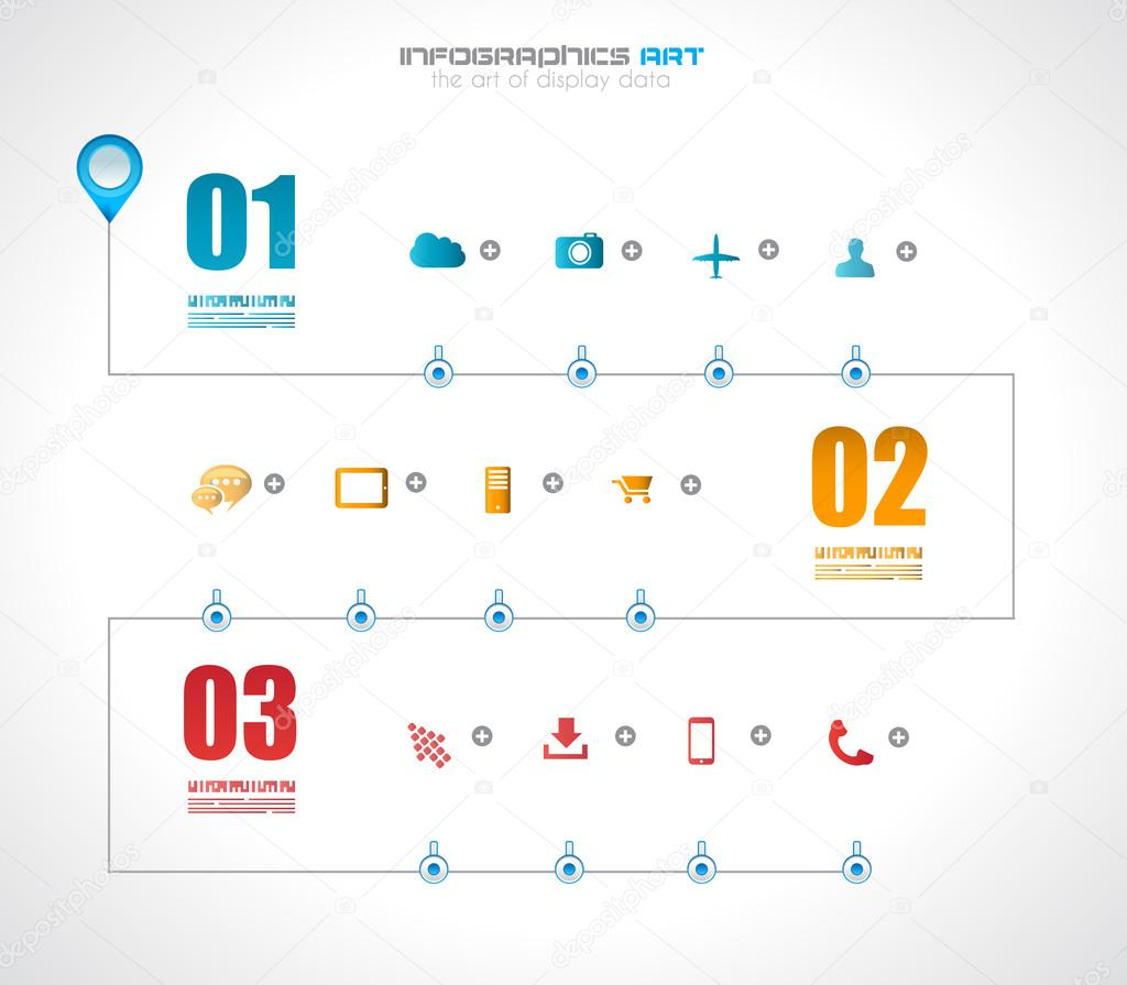Infographic Timeline Design Template With Paper Tags Stock Vector - Timeline design template