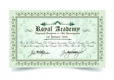 Certificate for differrent with a lot of details