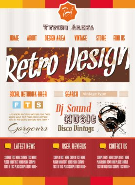 Vintage retro page template for a variety of purposes: