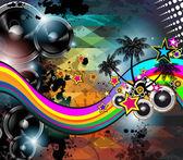 Fotografie disco oznámení tropické události pro hudební plakát