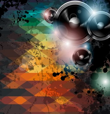 Disco club flyer template.