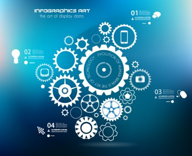 Infographics and High Tech background for business