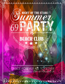 Strandparty-Flyer für Ihr Latin-Musik-Event