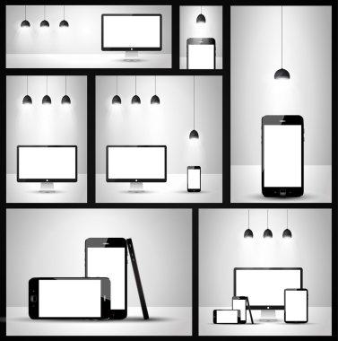 Modern devices mockups