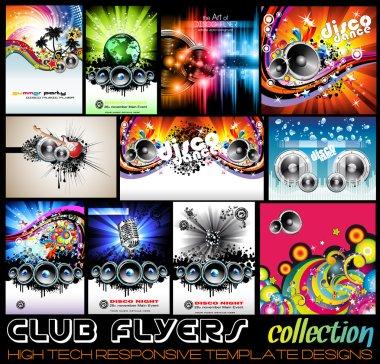 Stunnig Disco Club Flyers collecton