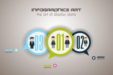 Flat UI design concepts infographics