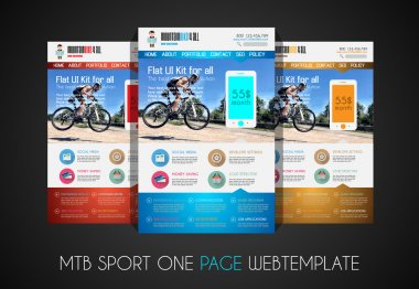 SPORT website flat UI design template
