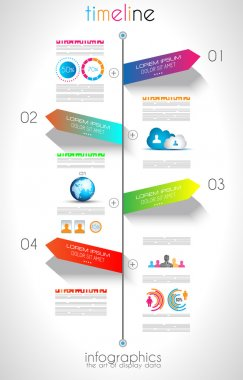 Social Media and Cloud Infographic background