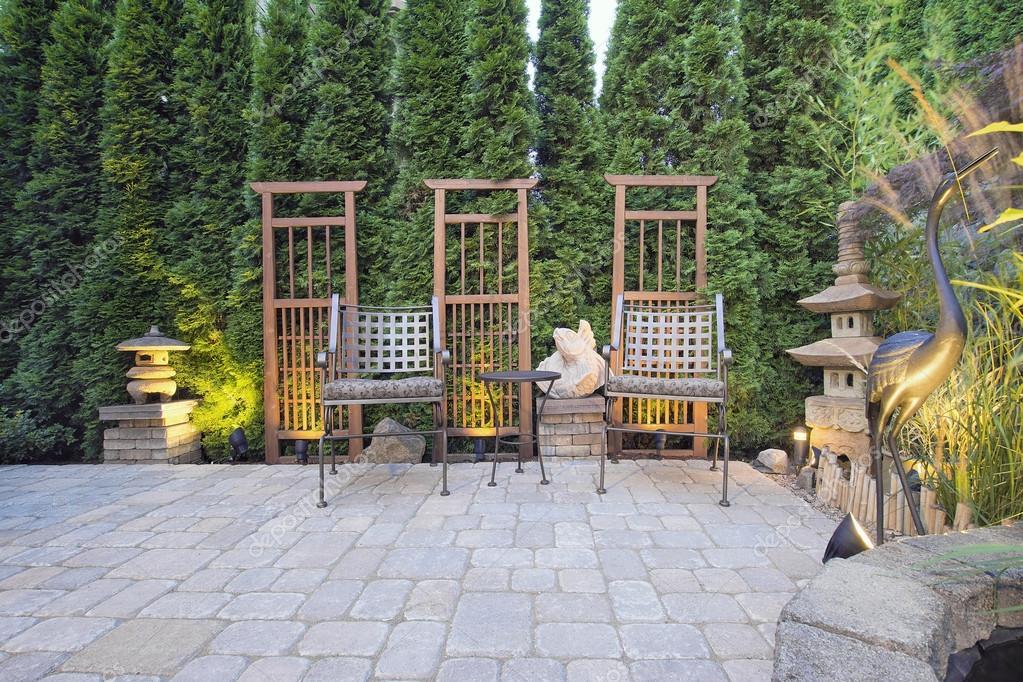 Patio Pav 233 Avec D 233 Coration De Jardin Photographie