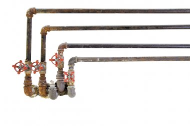 Old Plumbing Pipes with Valves