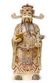 Prosperita peníze Bůh slonovinová řezba