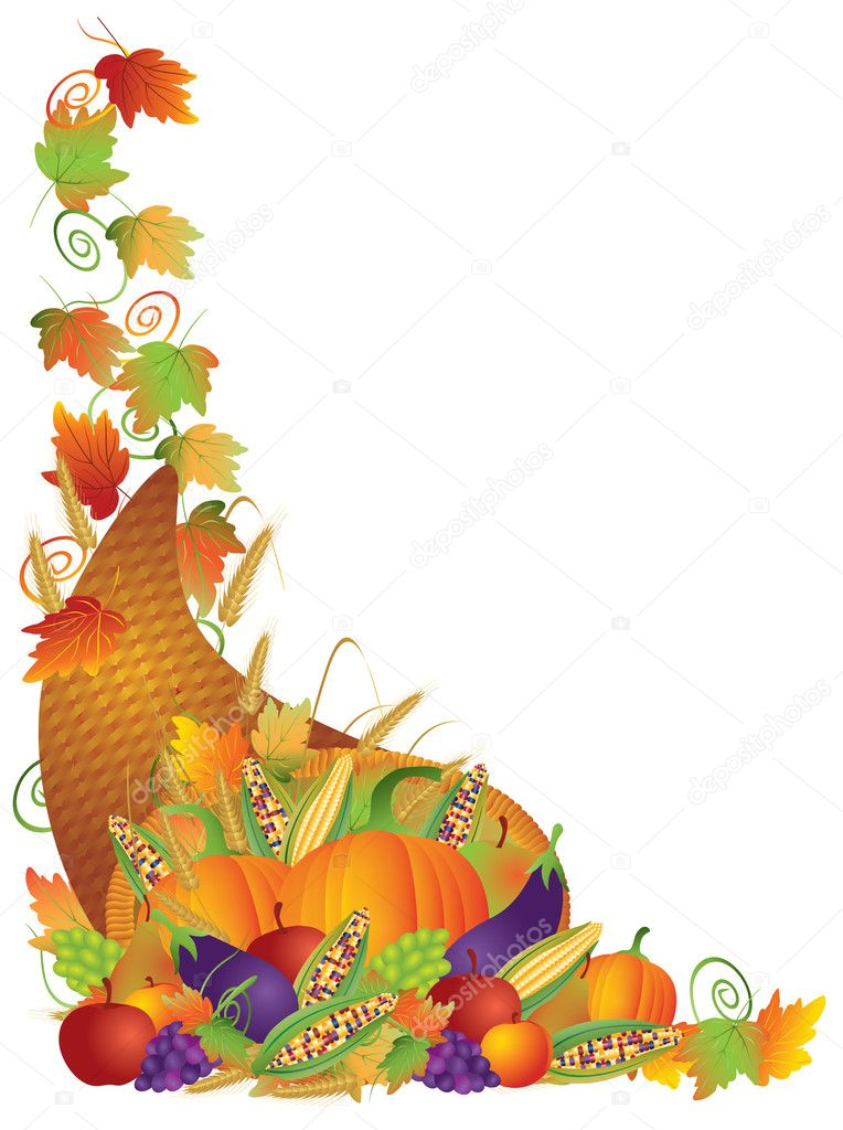 thanksgiving cornucopia vines border illustration stock fall season clipart black and white disney fall season clipart