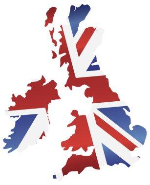 UK England Flag Map Silhouette