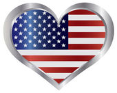 Fotografie 4th of July USA Flag Heart