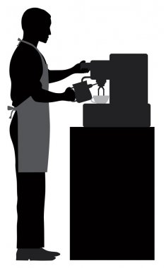 Male Coffee Barista Illustration