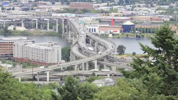 marquam most dálnice dopravní timelapse nad řeky willamette v Portlandu oregon 1920 x 1080