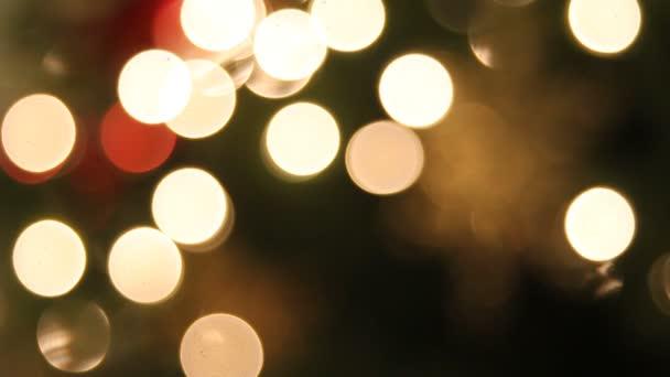 vánoční stromky s předsazením vločka ozdoba bokeh pozadí 1080p