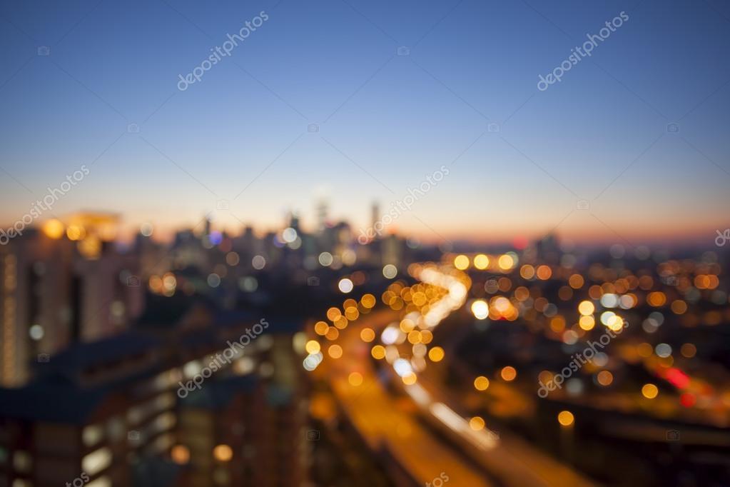 Kuala Lumpur Skyline with Highway Blurred Background