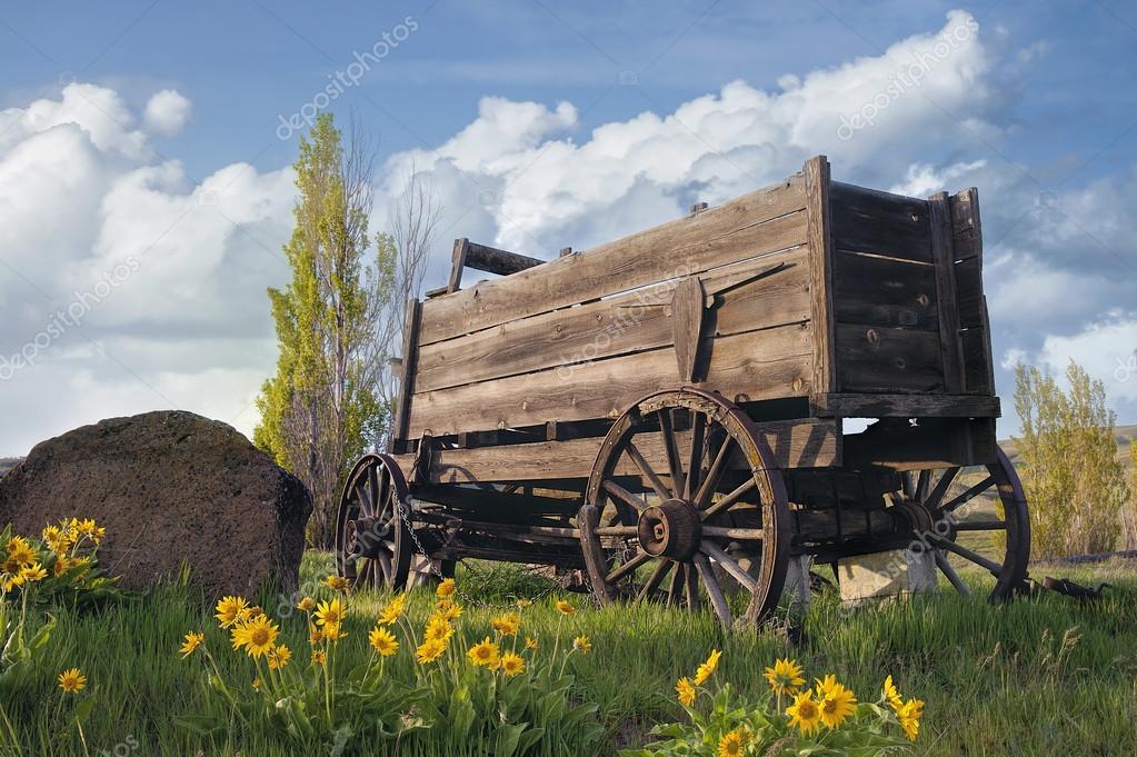 Vecchio carro al ranch di fattoria foto stock for Piani di fattoria georgiana