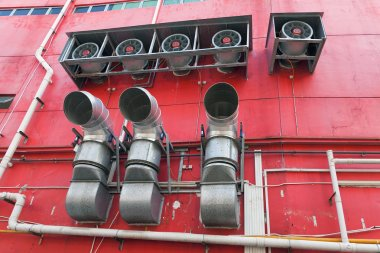 Building Commercial Heating Cooling System Exhaust