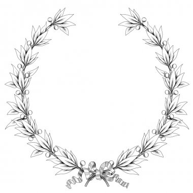 laurel wreath (black and white colors)