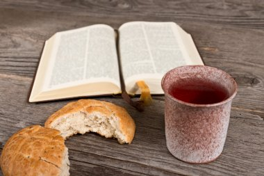 Bible With Bread And Chalice