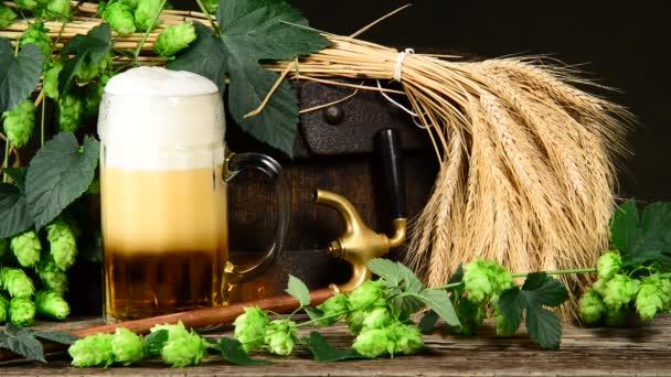 suroviny pro výrobu piva, stoupající bubliny v b