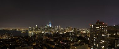 New York by night - new WTC in blue