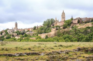 Beautiful panorama of Segovia, Spain