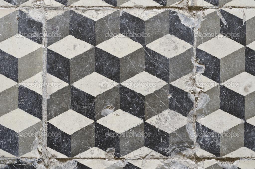 Mattonelle di pavimento d epoca u foto stock aninka