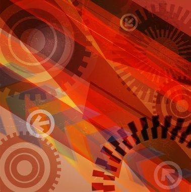 Arrow abstract vector background.