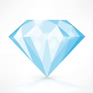 Diamond isolated on white. vector illustration