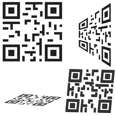 Set of qr code and flash code