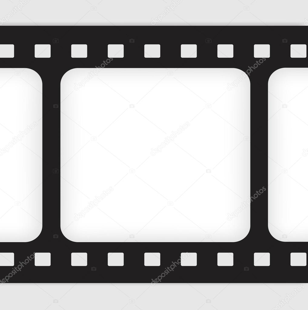 Old filmstrip. Movie ending frame. — Stock Vector © slasny1988 #30919703