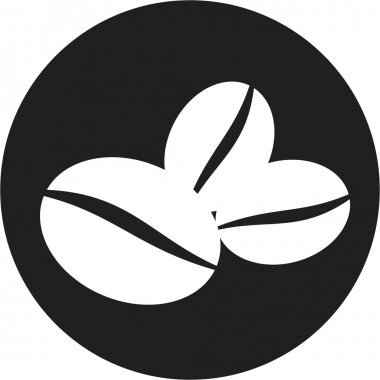 Coffee beans symbol