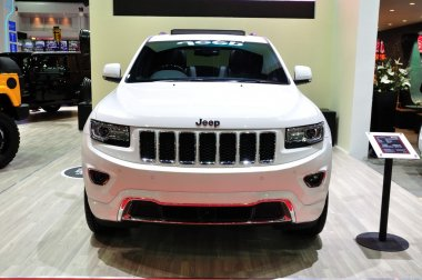 NONTHABURI - March 25: New Jeep Grand Cherokee on display at The