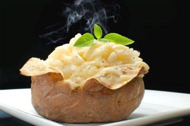 Hot baked potato