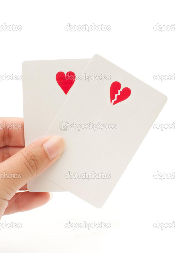 Heart And Broken Heart Shaped Symbol Stock Photo Nupix 28629227