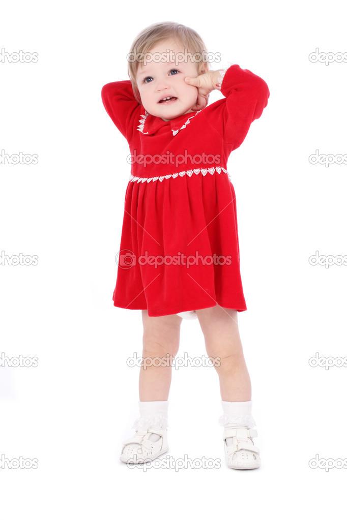 Imágenes Niñas Con Vestidos Rojos Niña De Vestido Rojo