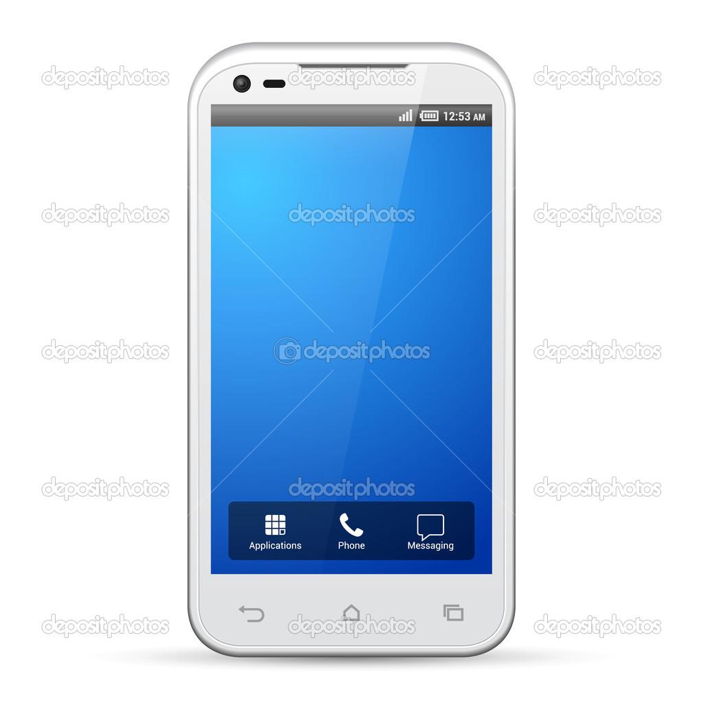 blanco smartphone plantilla pantalla pantalla resolución 480 x 800 ...