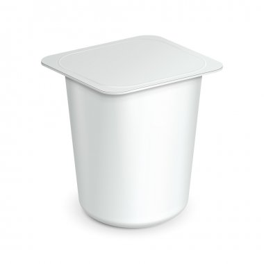 White Cup Tub Food Plastic Container For Dessert, Yogurt, Ice Cream, Sour Sream Or Snack