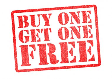 BUY ONE GET ONE FREE Rubber Stamp