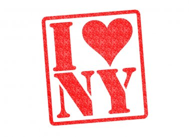I LOVE NY Rubber Stamp