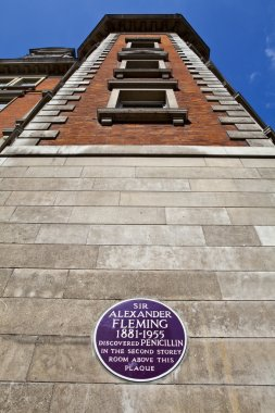 Sir Alexander Fleming Plaque at St. Mary's Hospital in London