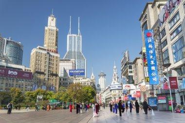 nanjing road in shanghai china