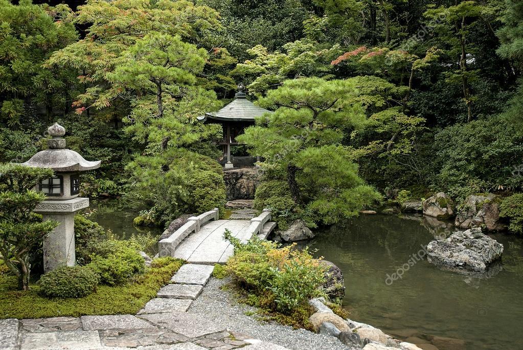 traditionelle japanische garten in kyoto japan. Black Bedroom Furniture Sets. Home Design Ideas