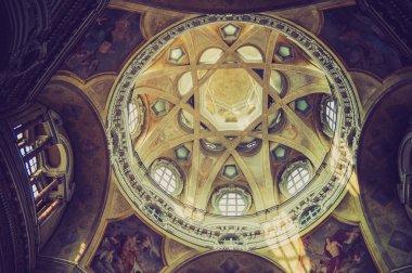San Lorenzo church Turin retro look