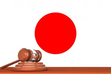 Gavel with Flag Of Japan